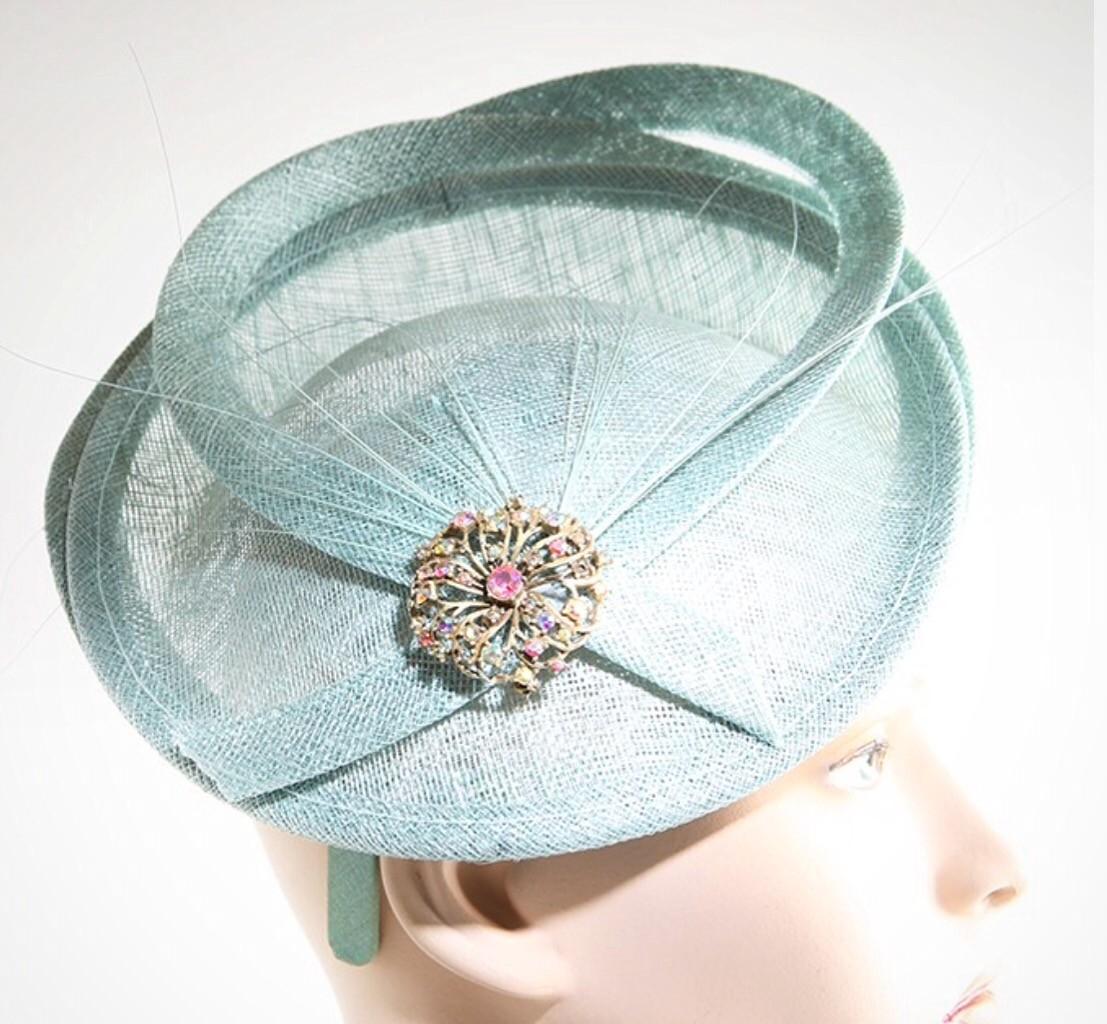 Fabhatrix Alpha Medium Disc Sinamay Hat