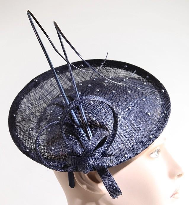 Fabhatrix Anemone Small Disc Sinamay Hat